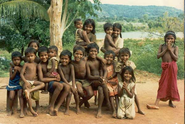 Vedda kids of Hennanigala