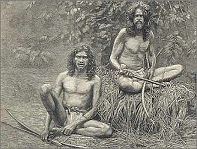 Veddahs, or 'Wild Men' of Ceylon